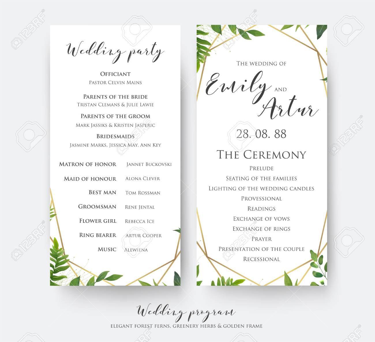 002 Striking Template For Wedding Program Inspiration  Word Free CatholicFull
