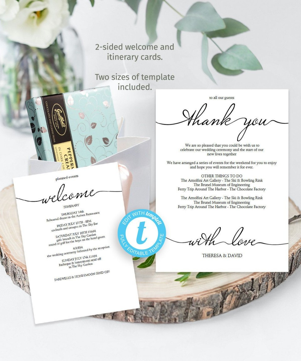 002 Striking Wedding Weekend Itinerary Template Photo  Day Timeline Word Sample960