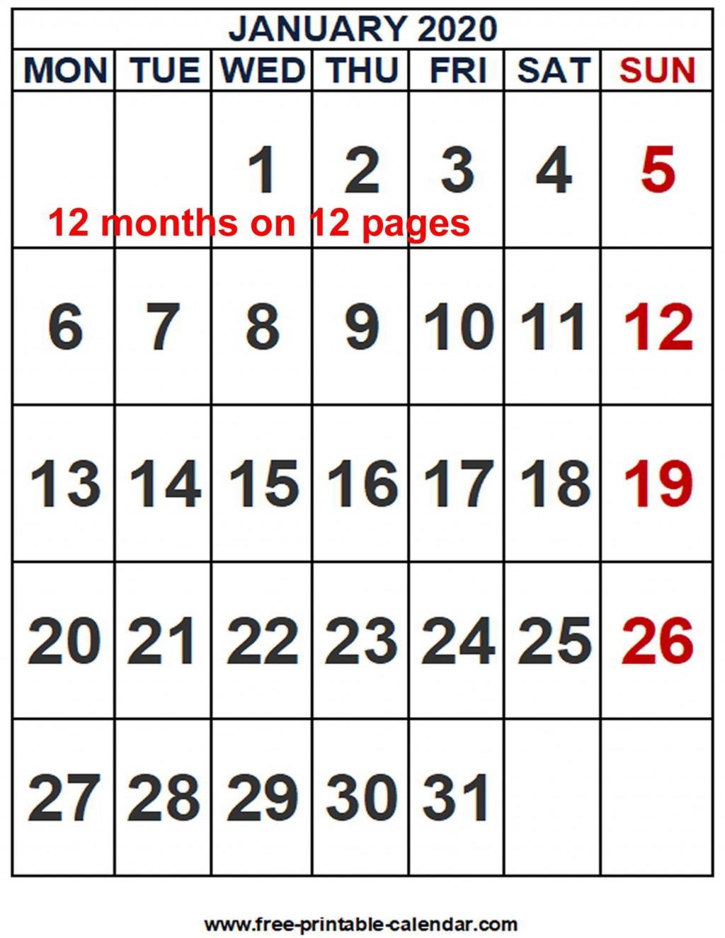 002 Striking Word 2020 Monthly Calendar Template Inspiration  Uk FreeLarge