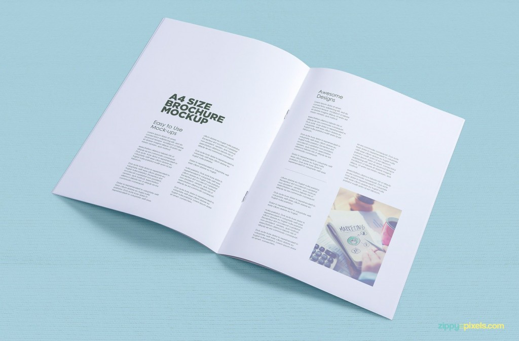 002 Stunning A4 Brochure Template Psd Free Download High Resolution  Tri Fold BifoldLarge