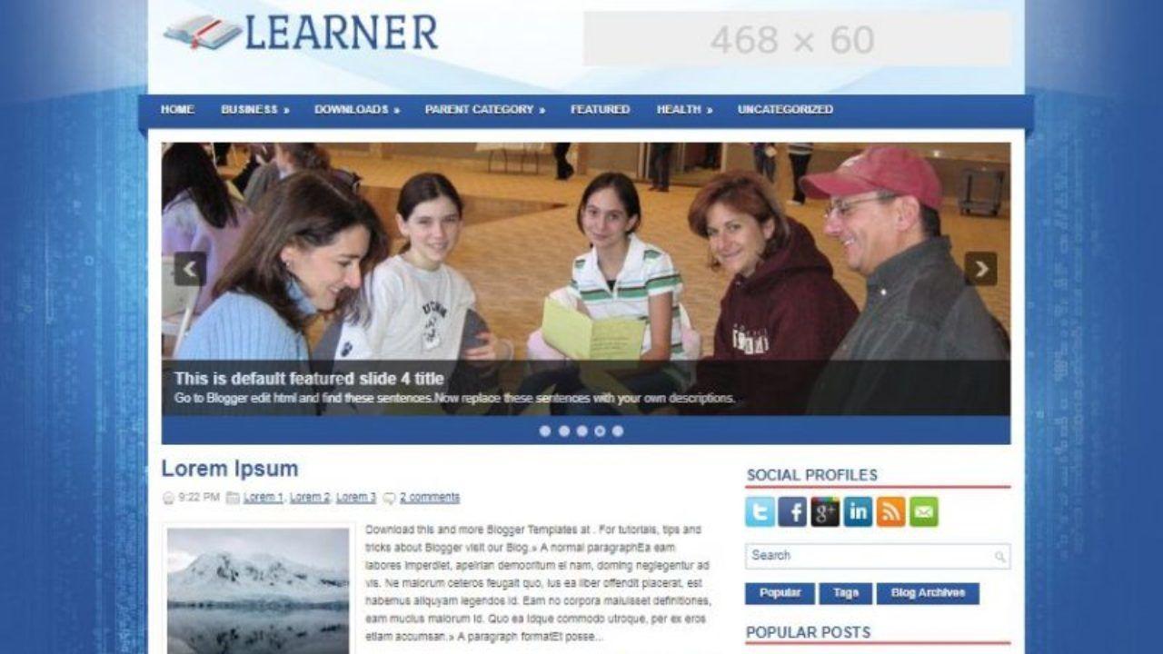 002 Stunning Best Free Responsive Blogger Template For Education Concept Full