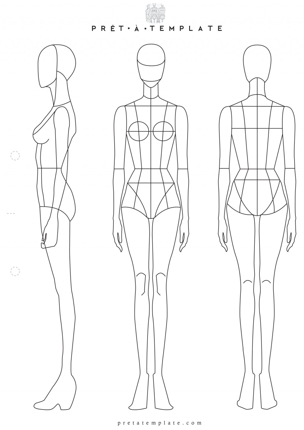 002 Stunning Body Template For Fashion Design Highest Quality  Female Male HumanLarge