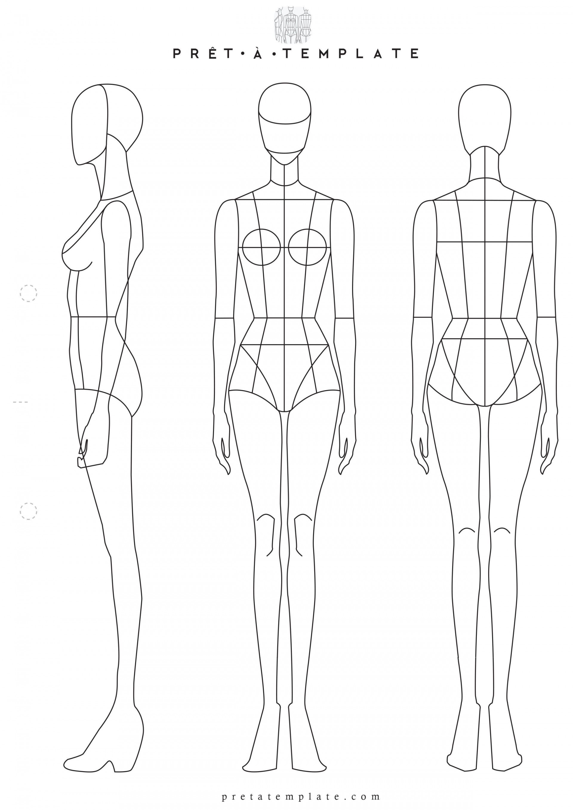 002 Stunning Body Template For Fashion Design Highest Quality  Female Male Human1920