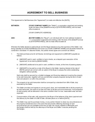 002 Stunning Busines Sale Agreement Template Example  Western Australia Free Uk Download South Africa320