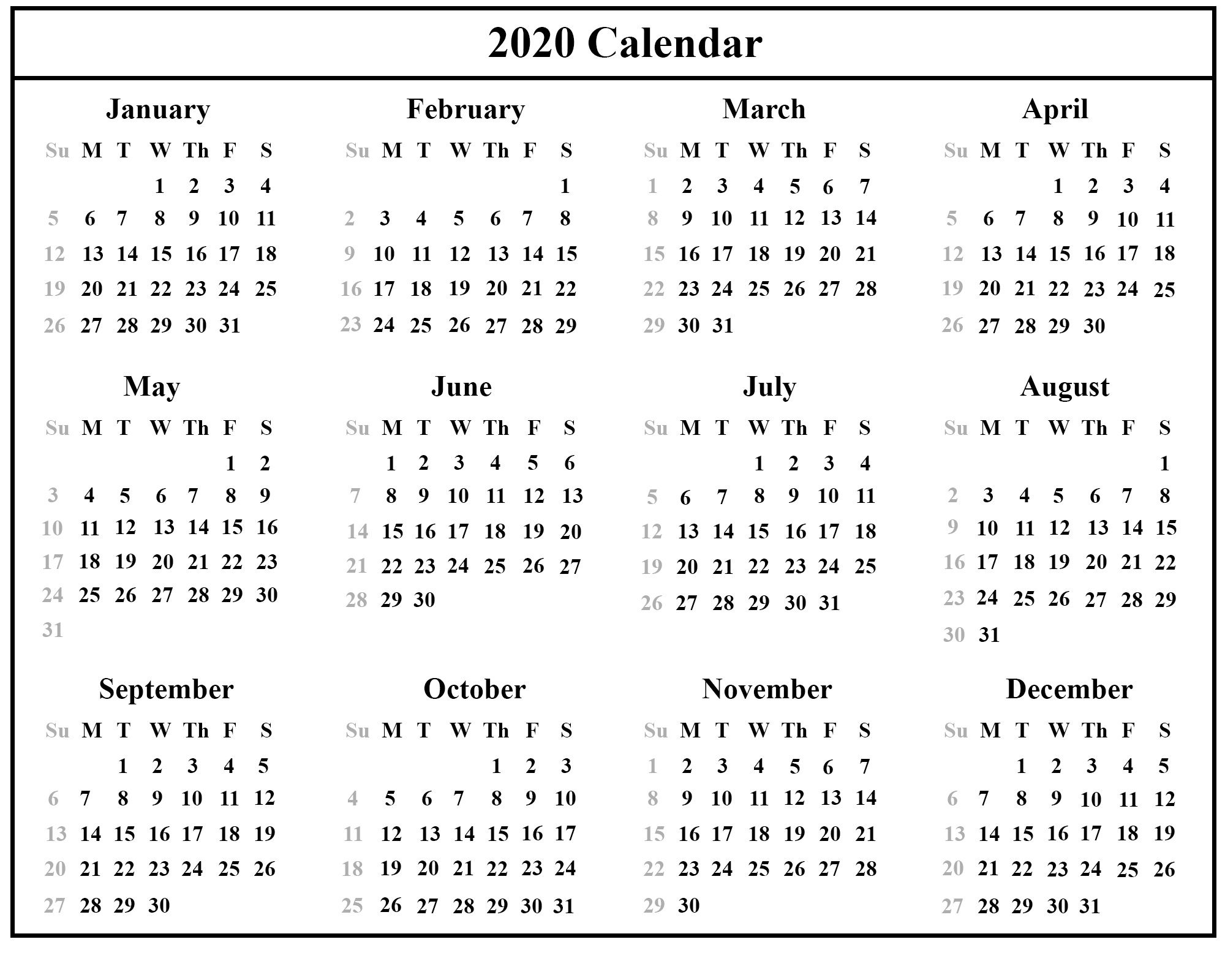 002 Stunning Calendar Template Free Download Design  2020 Powerpoint Table 2019 MalaysiaFull