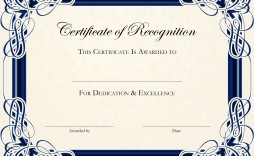 002 Stunning Certificate Of Recognition Template Word Highest Quality  Award Microsoft Free