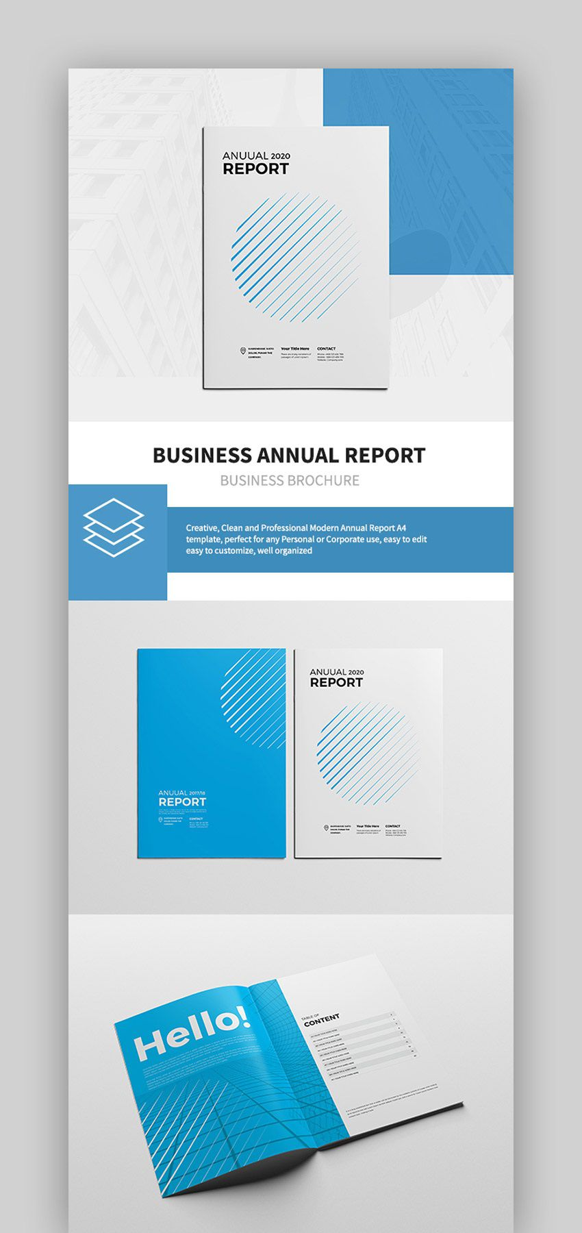 002 Stunning Free Adobe Indesign Annual Report Template High Resolution Full