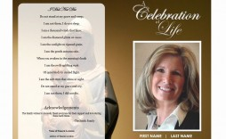 002 Stunning Free Celebration Of Life Brochure Template High Def  Flyer