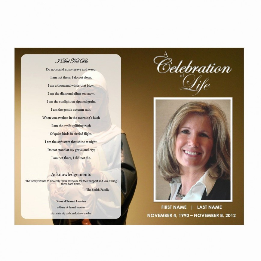 002 Stunning Free Celebration Of Life Brochure Template High Def  Flyer868