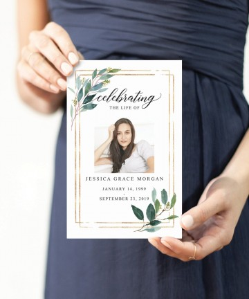 002 Stunning Free Celebration Of Life Program Template Download Highest Clarity 360