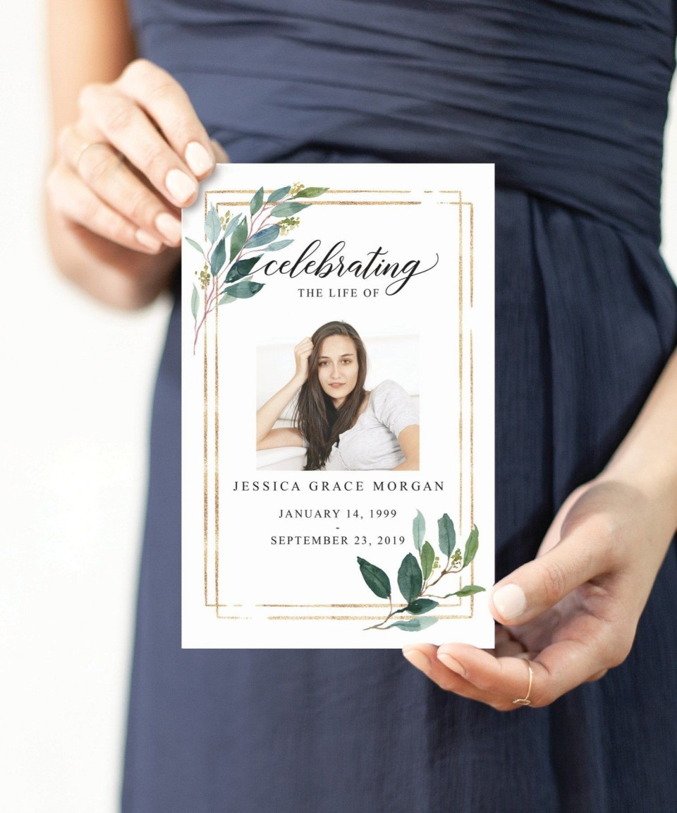 002 Stunning Free Celebration Of Life Program Template Download Highest Clarity 960