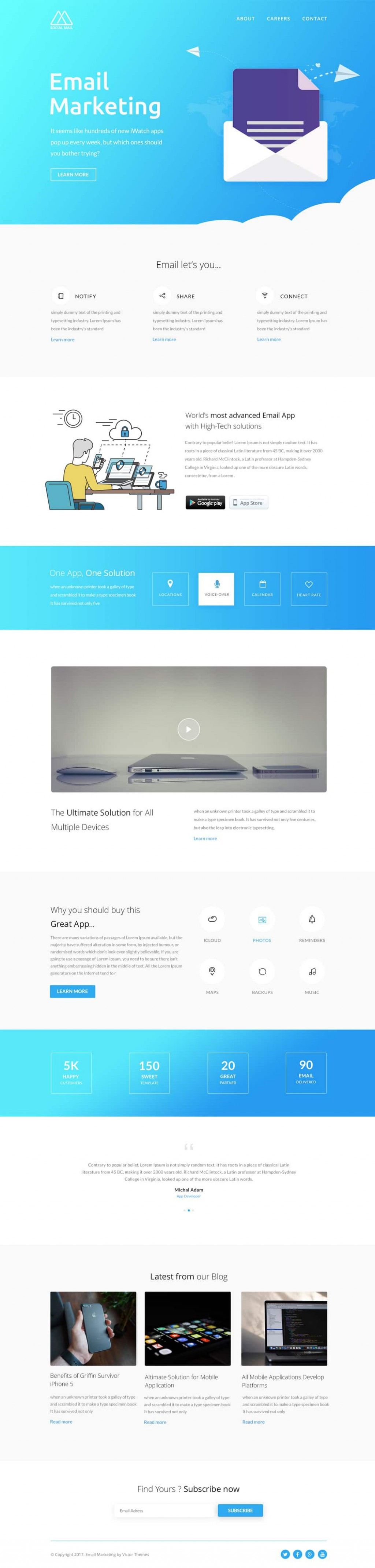 002 Stunning Free Email Newsletter Template Download Image  Busines PsdLarge