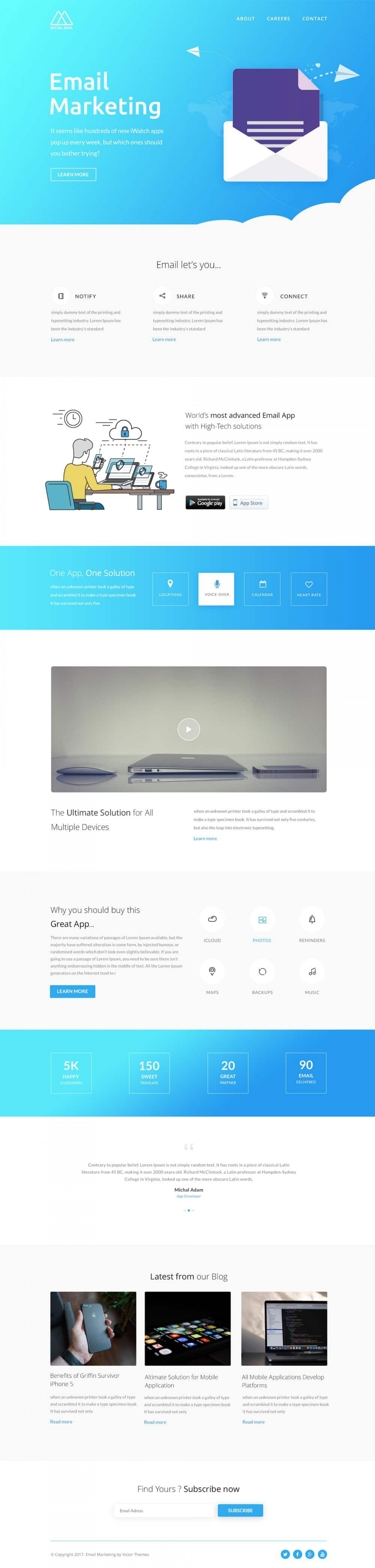 002 Stunning Free Email Newsletter Template Download Image  Busines Psd1920