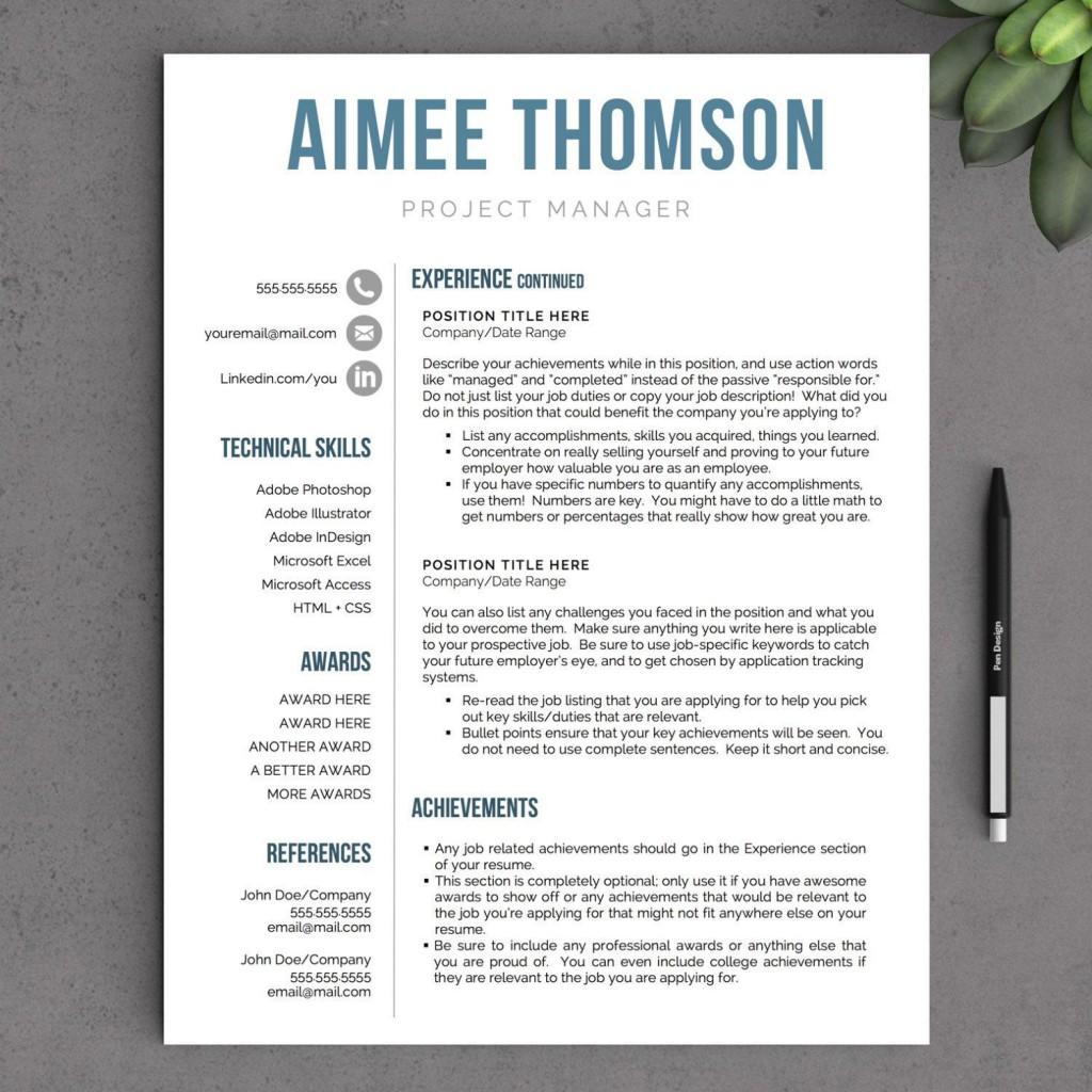 002 Stunning Free Printable Creative Resume Template Microsoft Word Inspiration Large