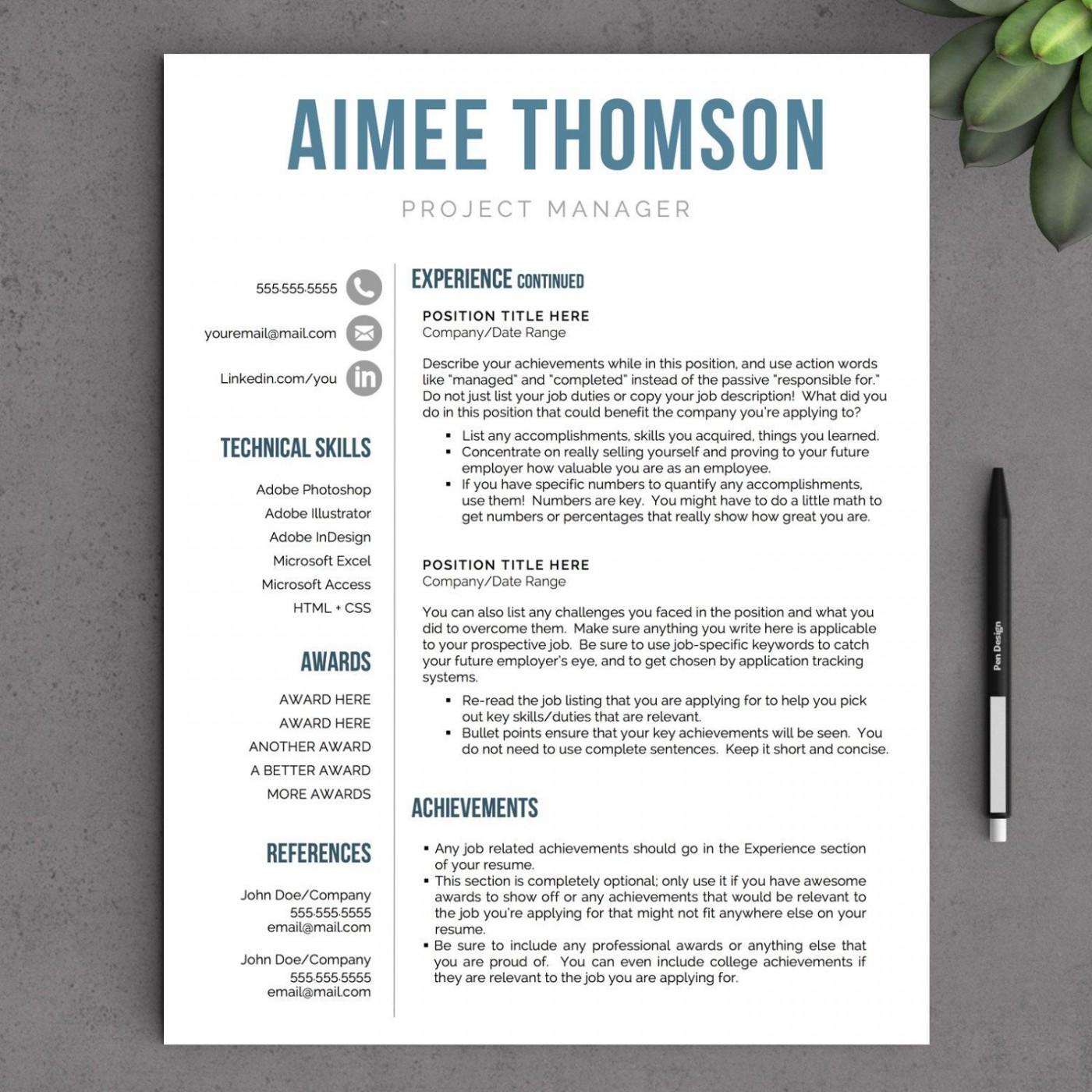 002 Stunning Free Printable Creative Resume Template Microsoft Word Inspiration 1400