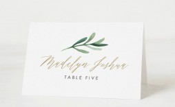 002 Stunning Free Table Name Place Card Template High Def  Placement