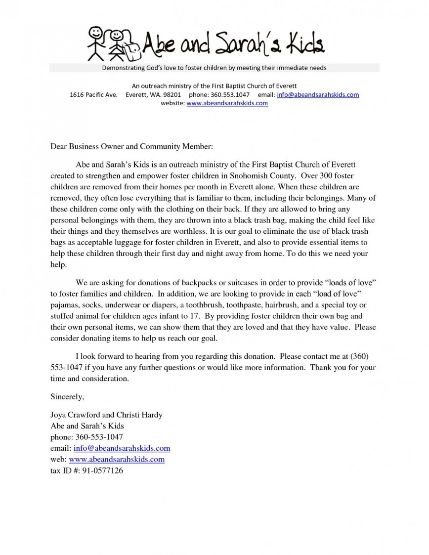 002 Stunning Fund Raising Letter Template Design  Fundraising For Mission Trip School Sample Of A Nonprofit Organization868
