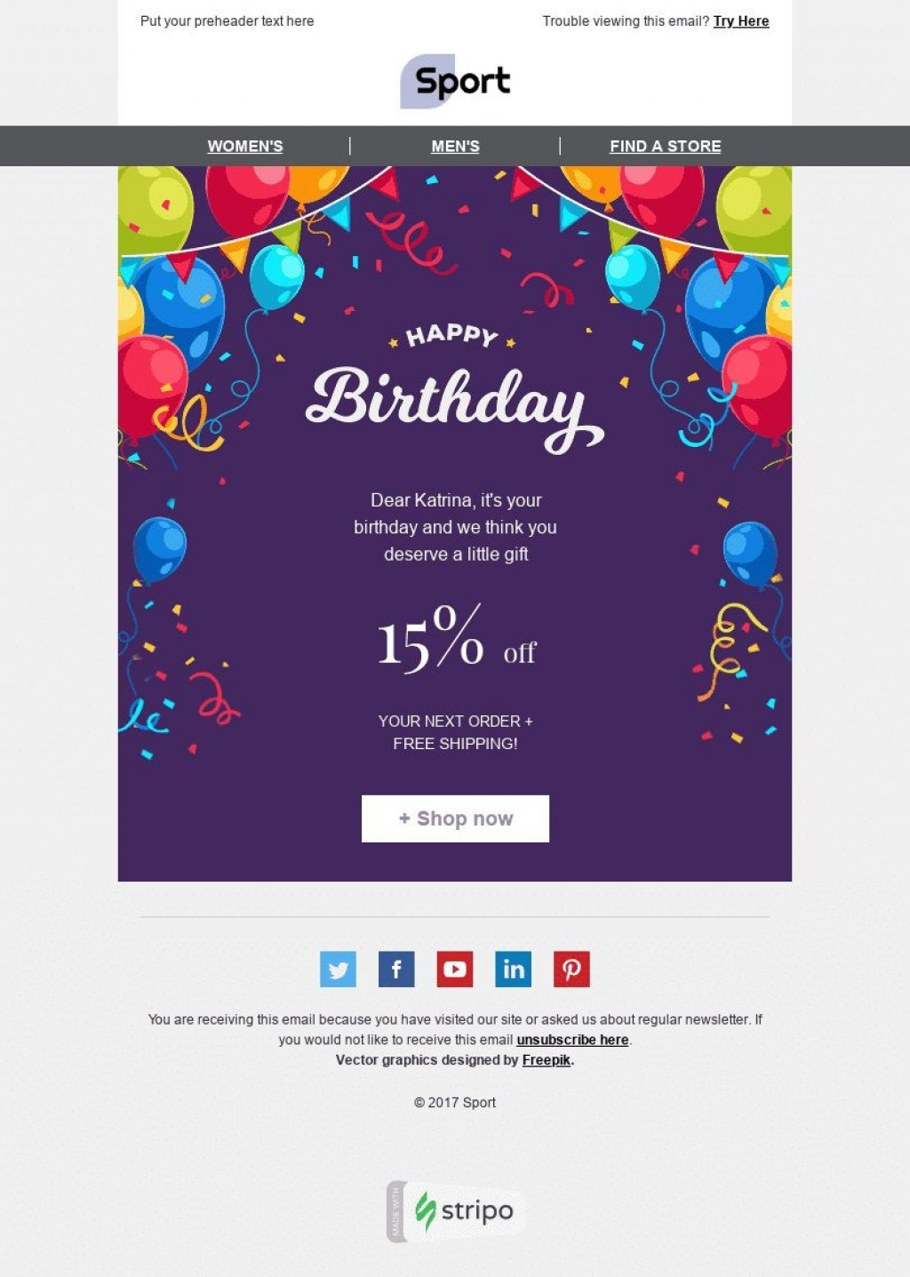 002 Stunning Happy Birthday Email Template Highest Clarity  Html To Employee CorporateLarge