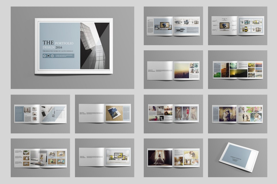 002 Stunning In Design Portfolio Template Inspiration  Free Indesign A3 Photography Graphic Download960