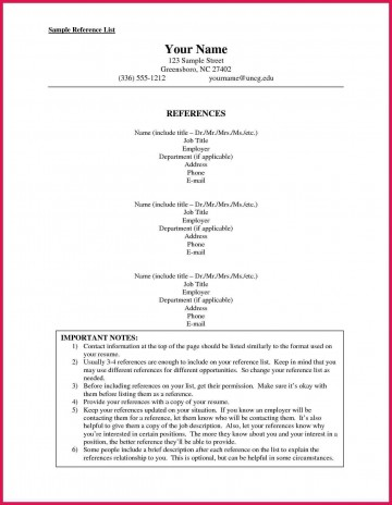 002 Stunning List Of Professional Reference Sample Idea  Template Employment Format Job Example360
