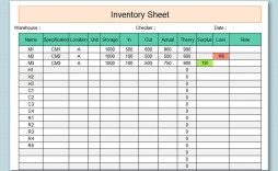 002 Stunning Microsoft Excel Inventory Template Free Download Photo