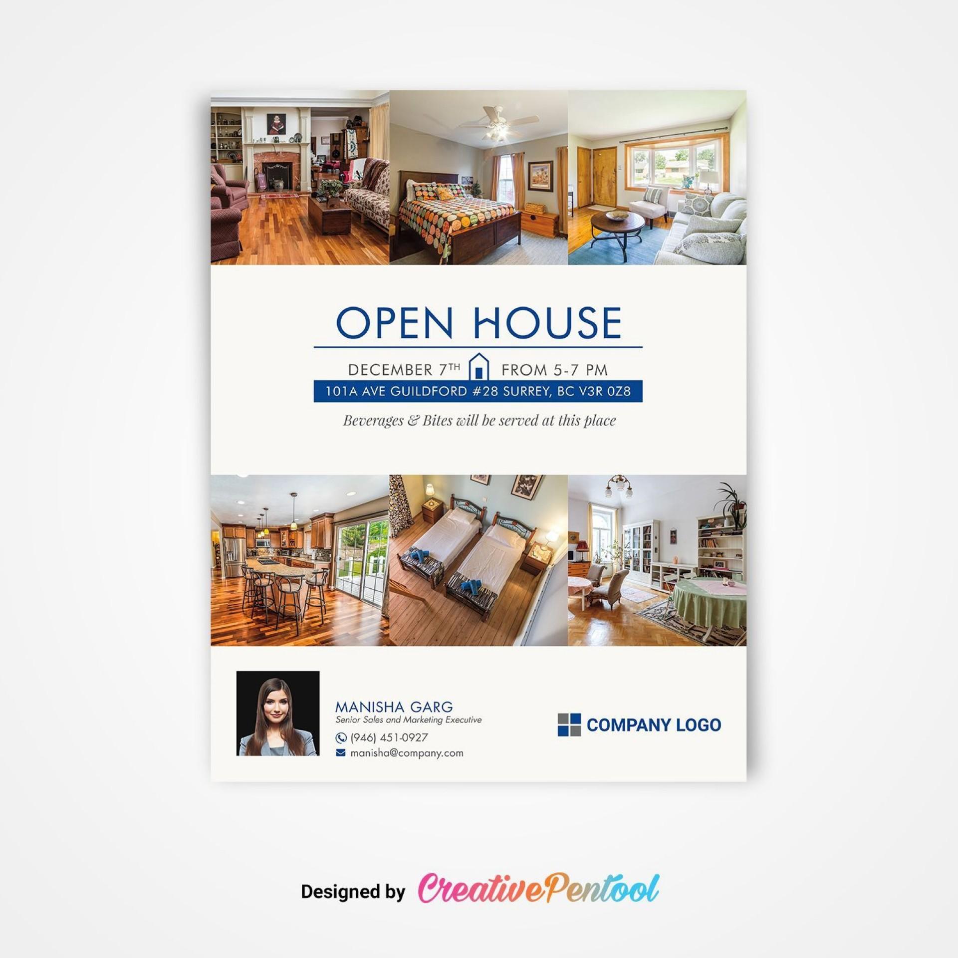 002 Stunning Open House Flyer Template Free Design  Holiday Preschool School Microsoft1920