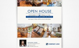 002 Stunning Open House Flyer Template Free Design  Holiday Preschool School Microsoft