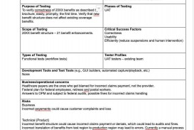 002 Stunning Simple Test Plan Template Example  Software Uat