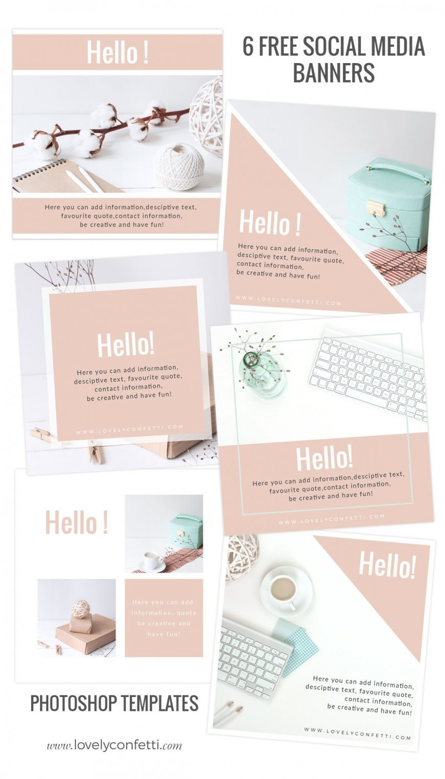 002 Stunning Social Media Template Free Download High Def  Bootstrap Marketing Ppt Post