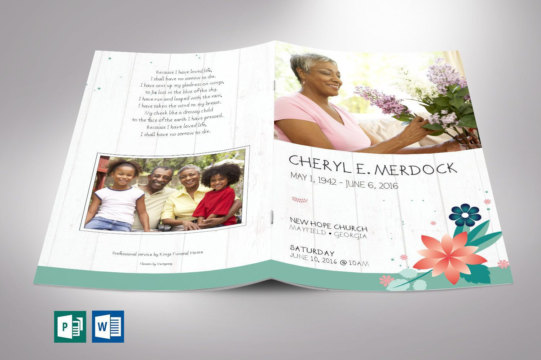 002 Stunning Template For Funeral Program Publisher High Definition Full