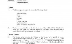 002 Stunning Template Vehicle Rental Agreement Image  Car Word Motor Contract