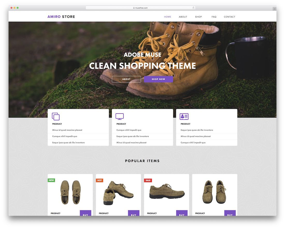 002 Stupendou Adobe Muse Template Free Highest Quality  2019 Ecommerce Download ParallaxFull
