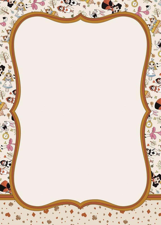002 Stupendou Alice In Wonderland Invite Template Idea  Party Invitation FreeLarge