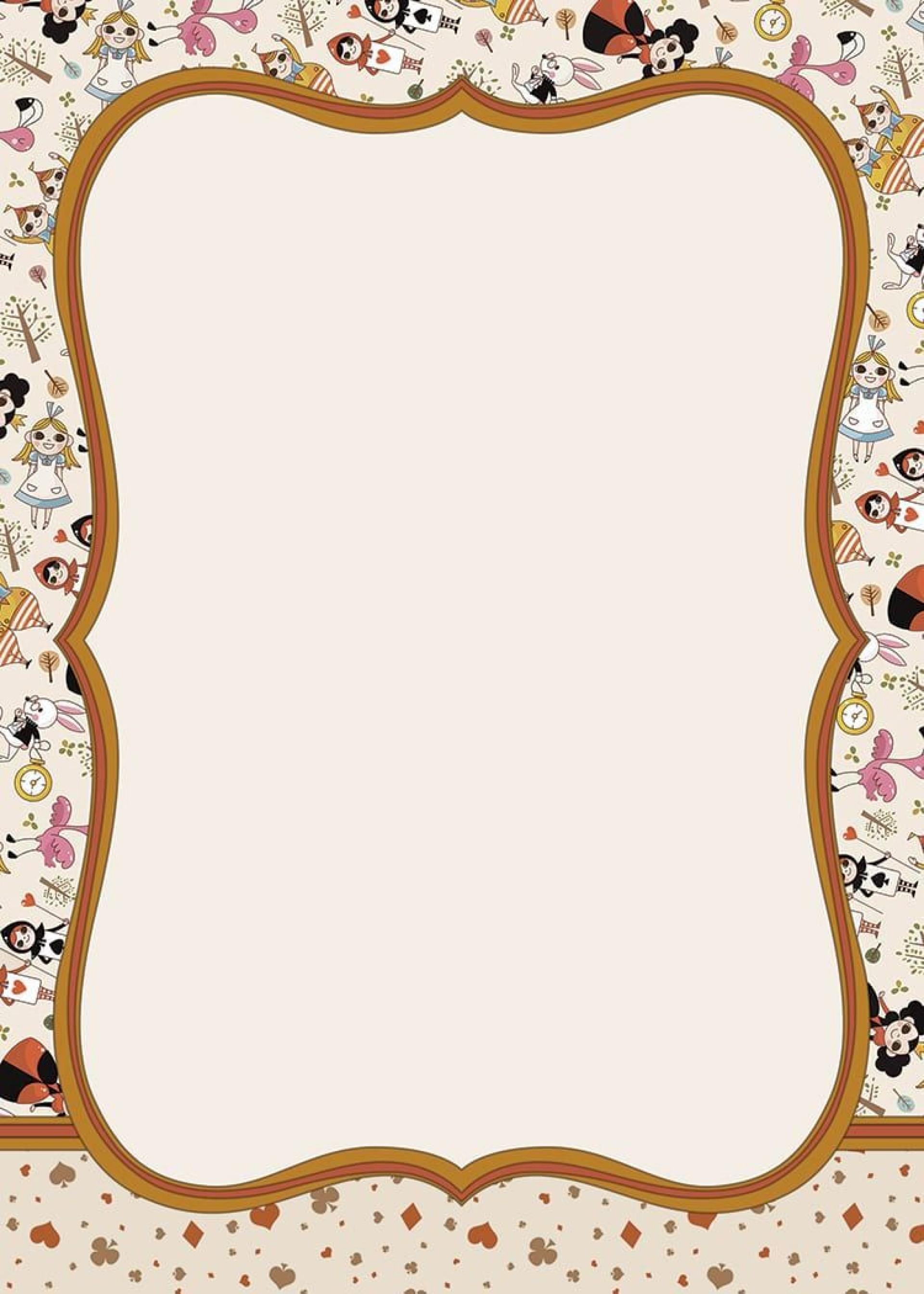 002 Stupendou Alice In Wonderland Invite Template Idea  Party Invitation Free1920