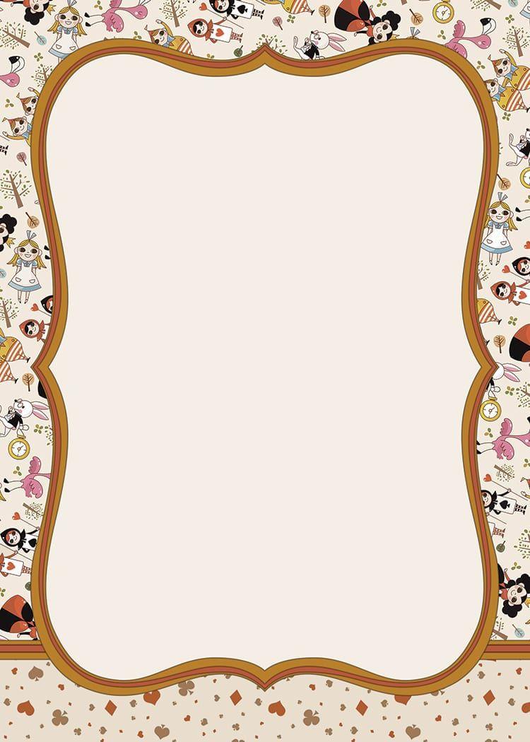 002 Stupendou Alice In Wonderland Invite Template Idea  Party Invitation FreeFull
