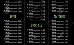 002 Stupendou Bar Menu Template Free Highest Quality  Download Snack