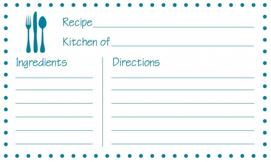 002 Stupendou Editable Recipe Card Template Highest Quality  Free For Microsoft Word 4x6 PageLarge