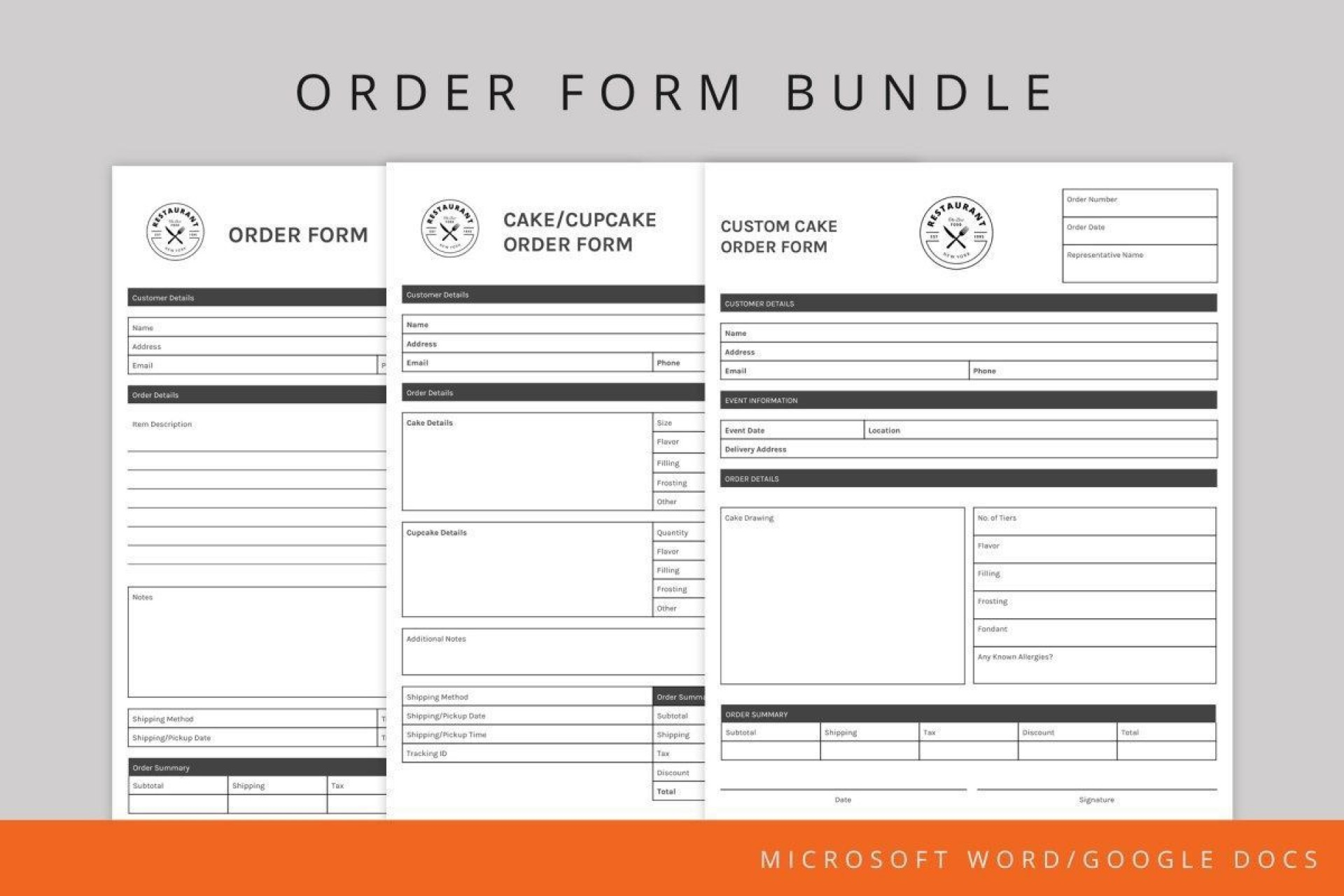 002 Stupendou Food Order Form Template Word High Def 1920