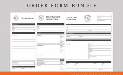 002 Stupendou Food Order Form Template Word High Def