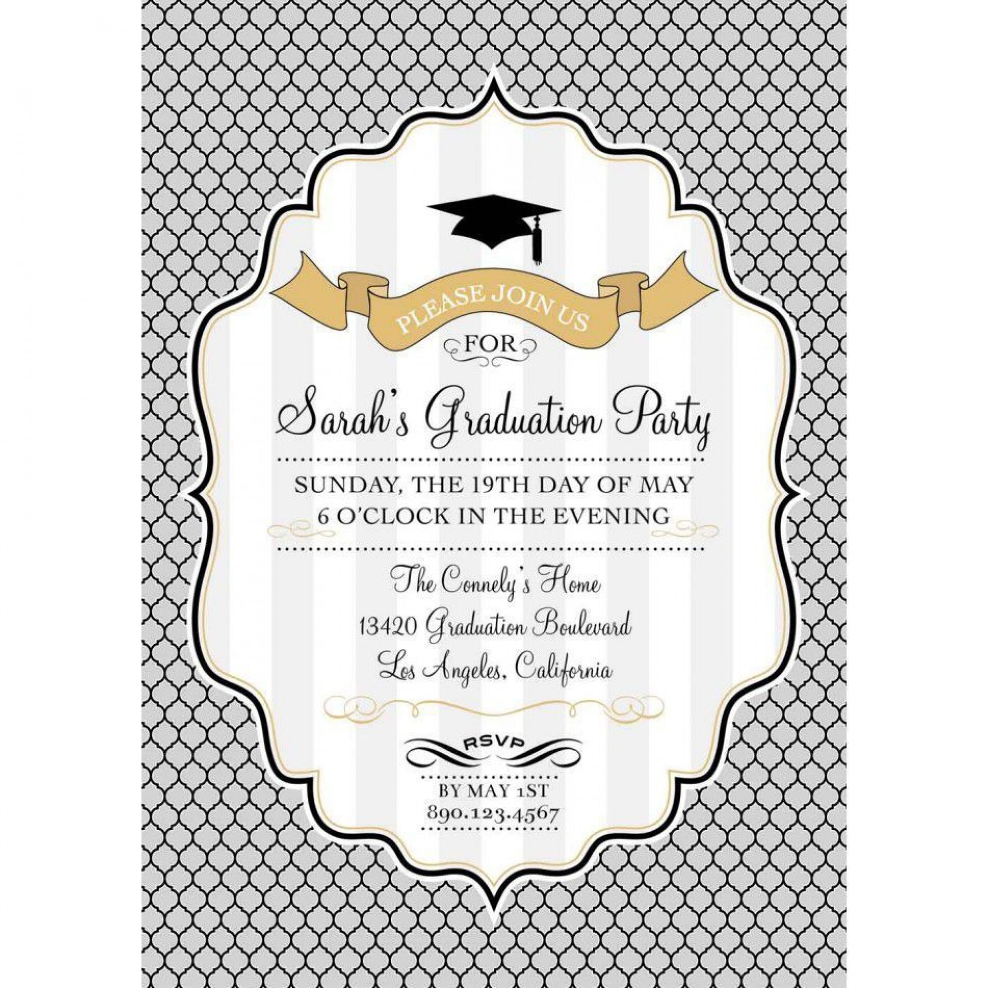 002 Stupendou Free Graduation Announcement Template Concept  Invitation Microsoft Word Printable Kindergarten1920