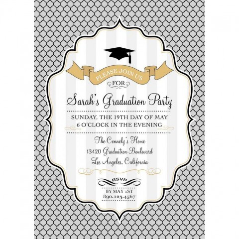 002 Stupendou Free Graduation Announcement Template Concept  Invitation Microsoft Word Printable Kindergarten480