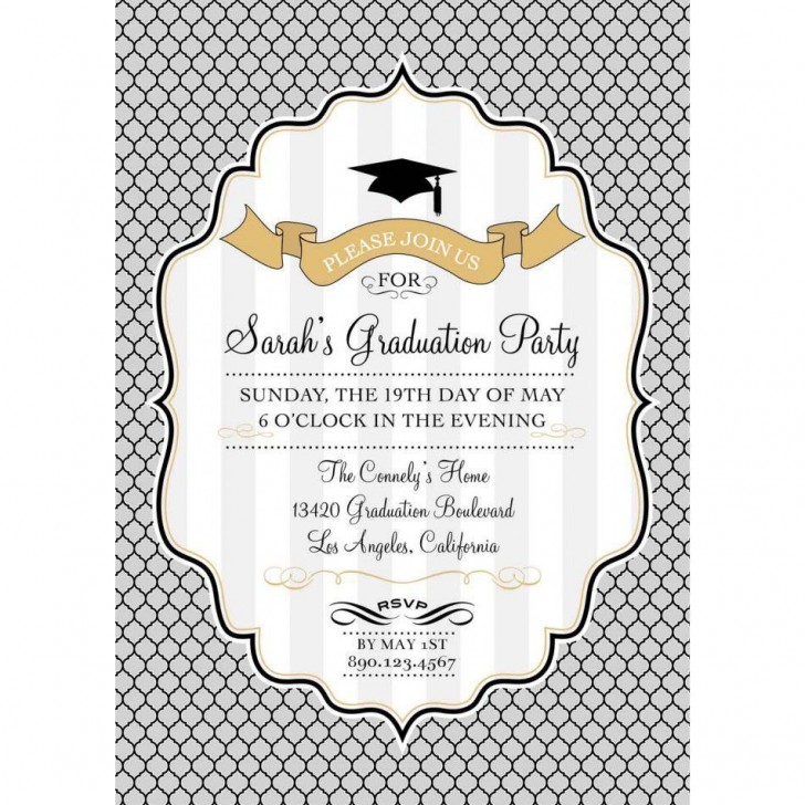 002 Stupendou Free Graduation Announcement Template Concept  Invitation Microsoft Word Printable Kindergarten728