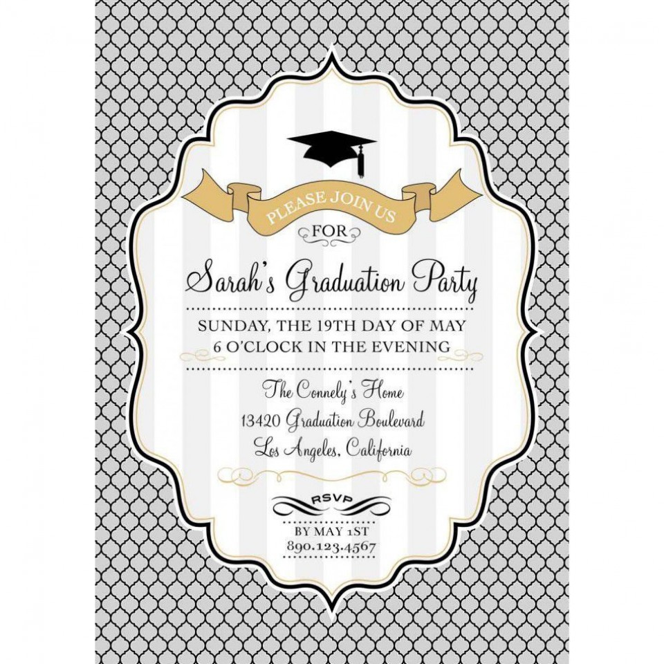 002 Stupendou Free Graduation Announcement Template Concept  Invitation Microsoft Word Printable Kindergarten960