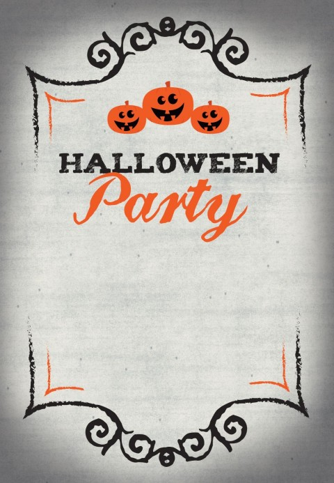 002 Stupendou Free Halloween Party Invitation Template Photo  Printable Birthday For Word Download480