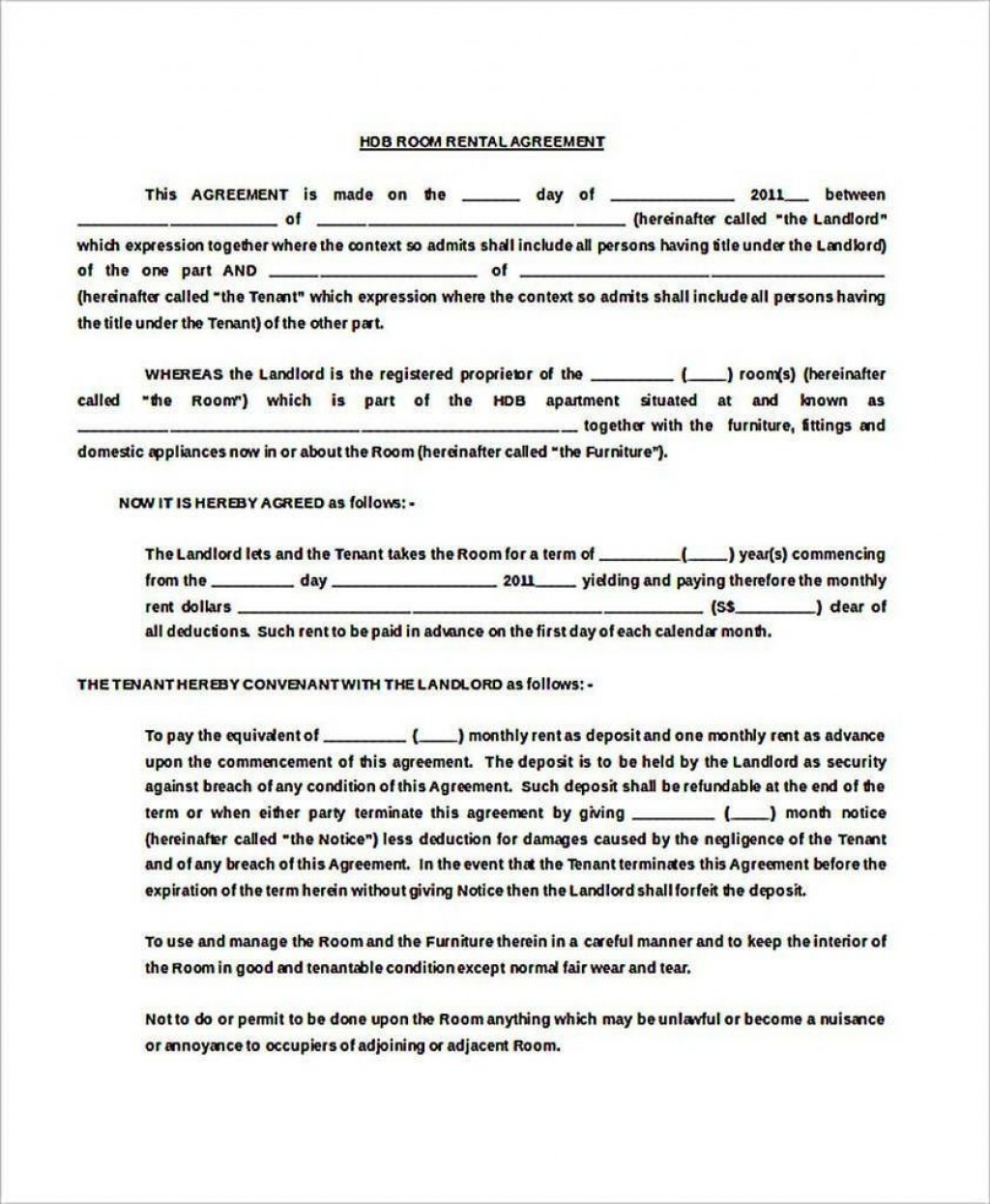 002 Stupendou Generic Room Rental Agreement Free Photo  PrintableLarge