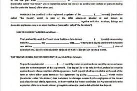 002 Stupendou Generic Room Rental Agreement Free Photo  Printable