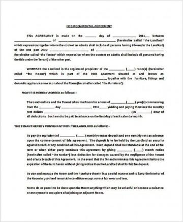 002 Stupendou Generic Room Rental Agreement Free Photo  Printable360