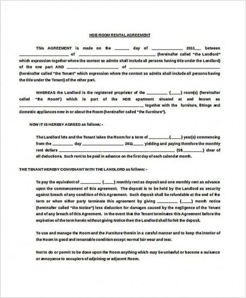 002 Stupendou Generic Room Rental Agreement Free Photo  Printable480