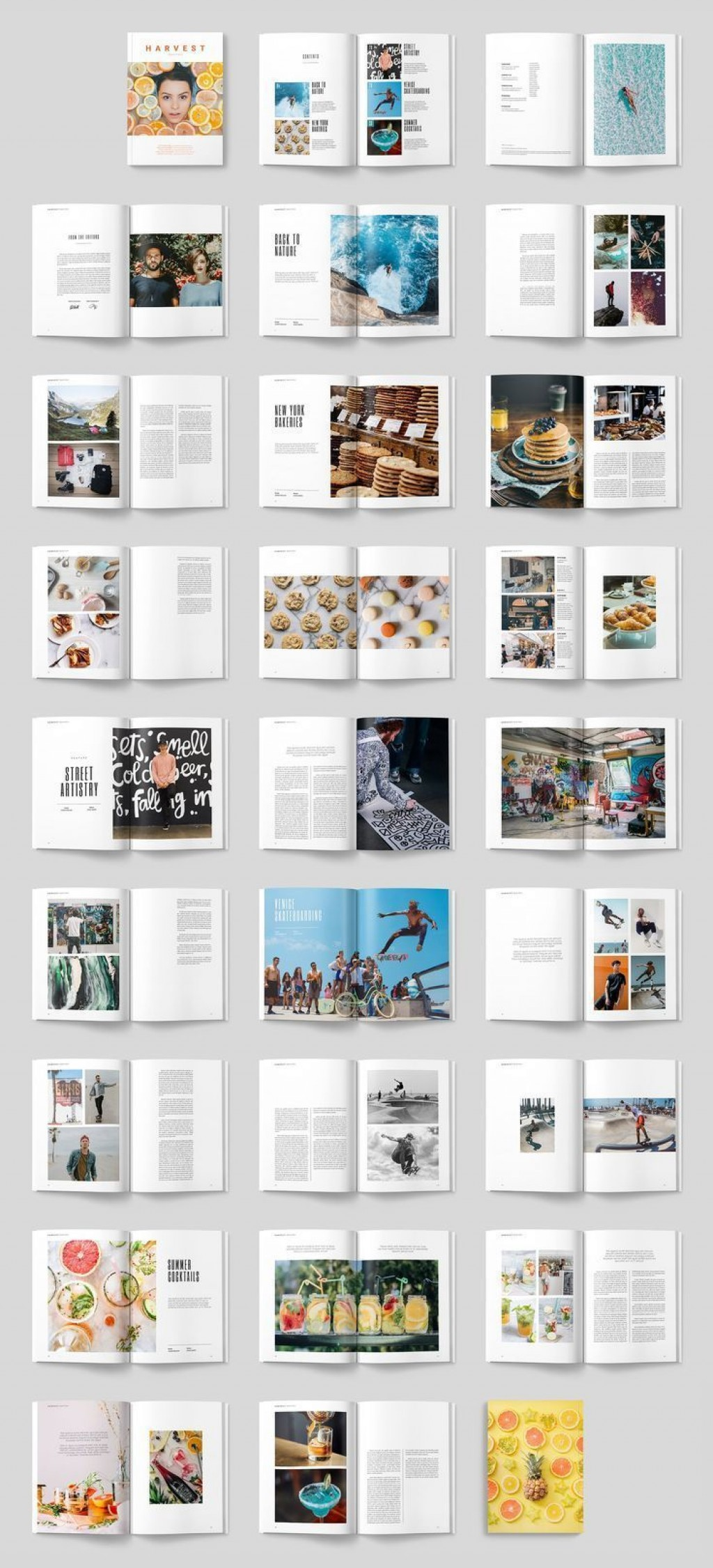 002 Stupendou Magazine Layout Template Free Download Word Photo Large
