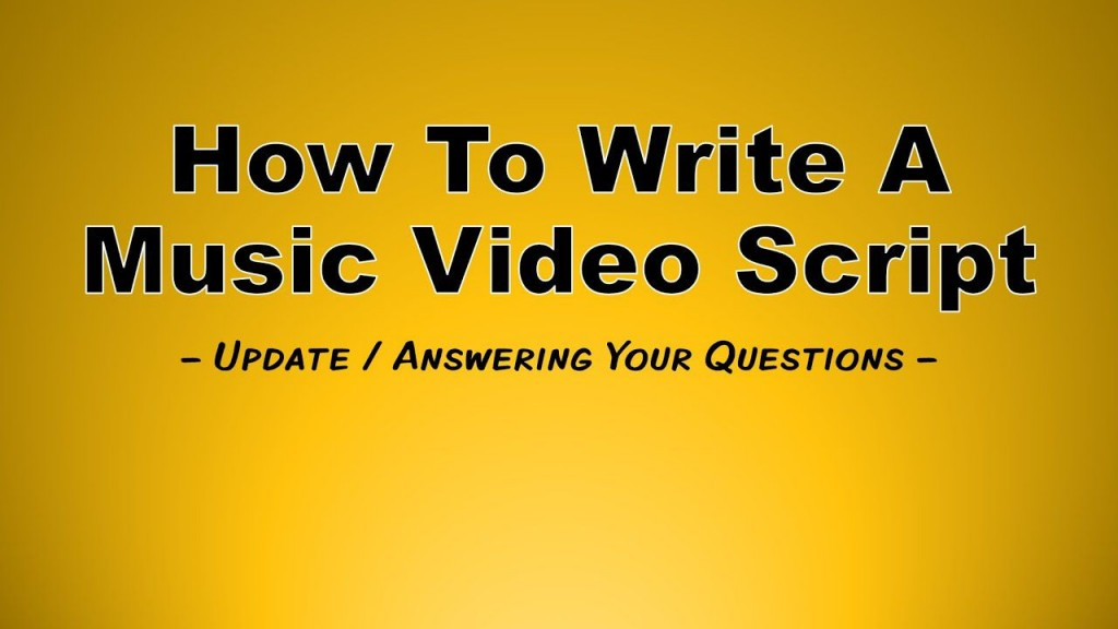 002 Stupendou Music Video Script Template Example  Google Doc FreeLarge